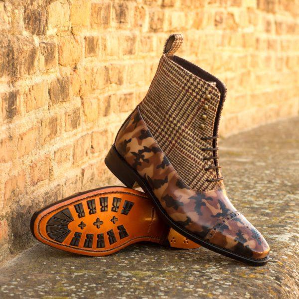 brown Balmoral Boot camo tweed MARCO insitu