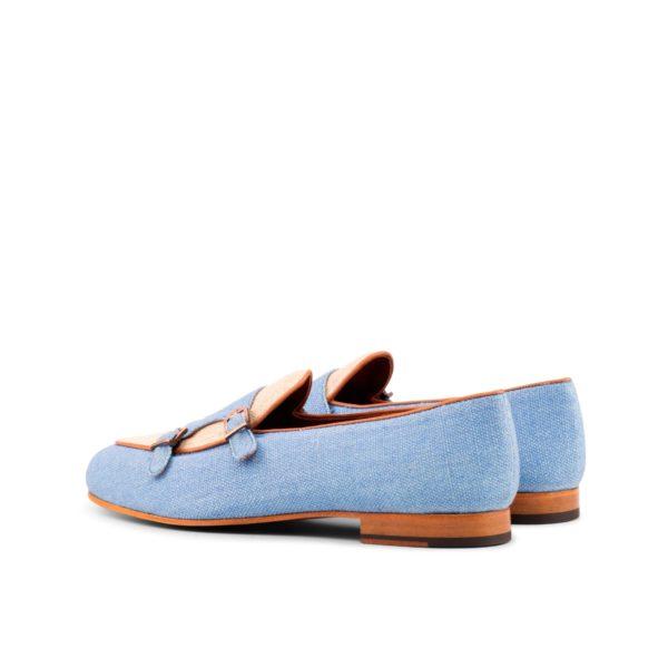 double monk style linen Slippers MELLERY rear