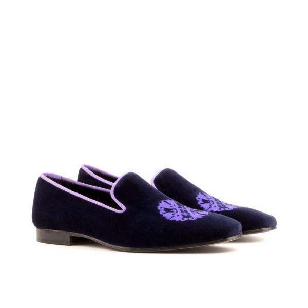 purple velvet Slippers embroidery PLUSH