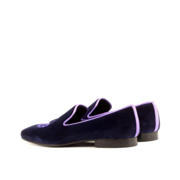 purple Slippers rear lilac trim detail PLUSH
