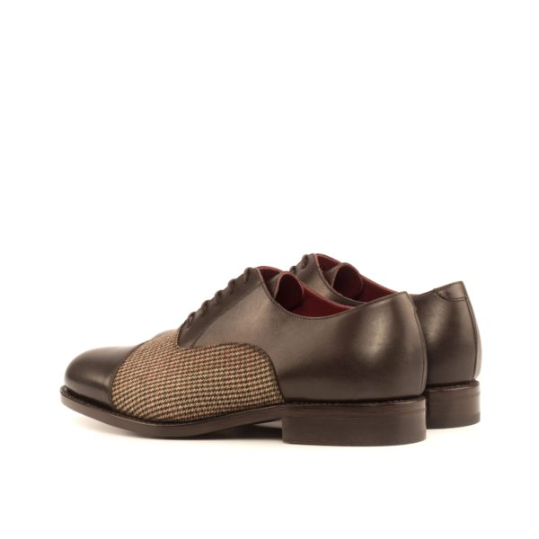 rear quarters leather tweed Oxford Shoes ARTFUL