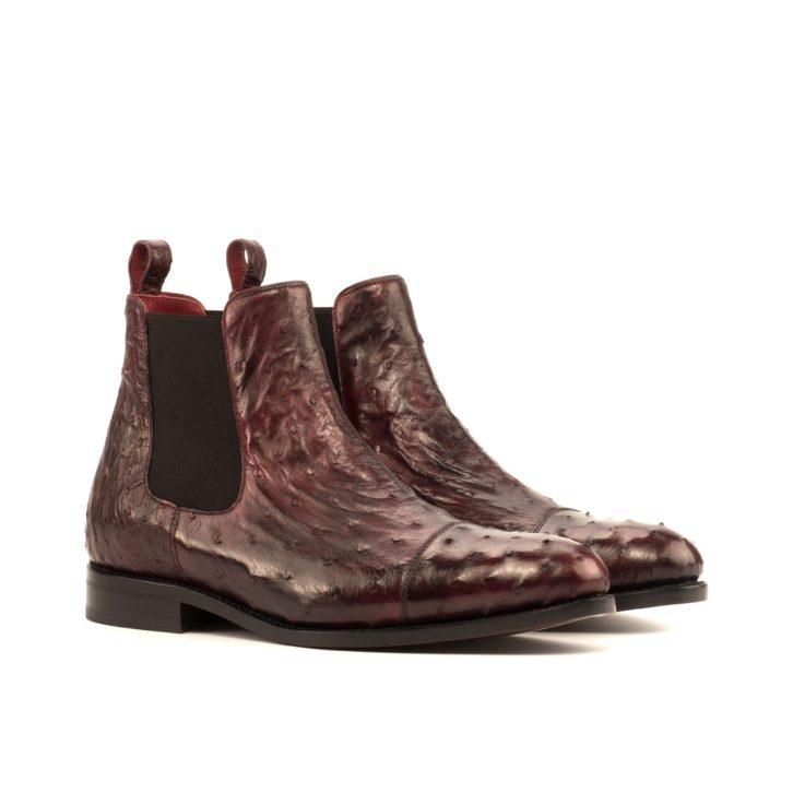 Ostrich Chelsea Boots BERNARD