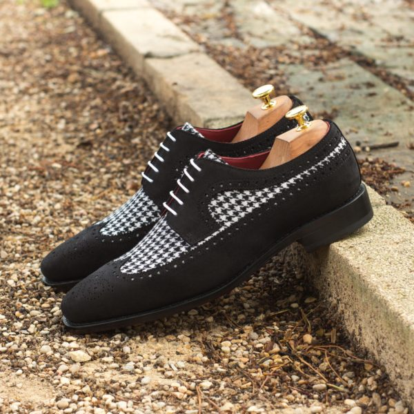 contrasting suede and houndstooth Shoes BOJANGLES