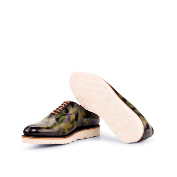 white rubber wedge Vibram goodyear welted soles on WholeCut CAMO shoes