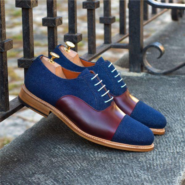 contrast denim Shoes turqoise laces DODGER