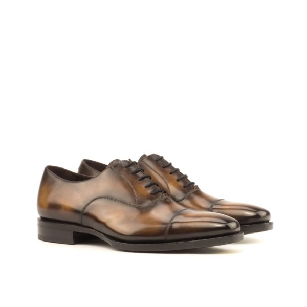 luxury brown museum Patina Oxford Shoes FIDDLER