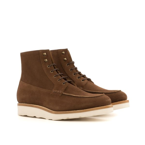 brown suede Moc-Toe Boots FOREMAN