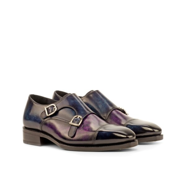 GIANCARLO double monk shoes with higher heel