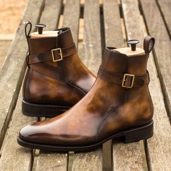 buckled Jodhpur Boots RUDYARD brown museum patina leather