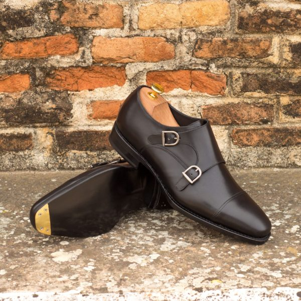 all black Double Monk Shoes NIGHT by Civardi