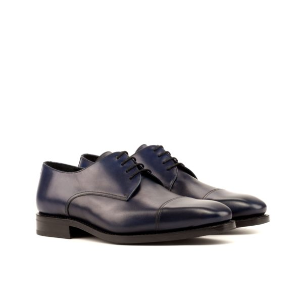 navy leather Derby shoes SENATOR
