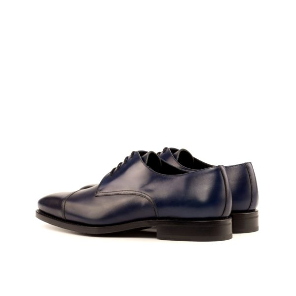 rear view navy painted leather Derby shoe SENATOR