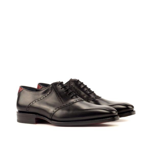 black leather Saddle Shoes VLAD