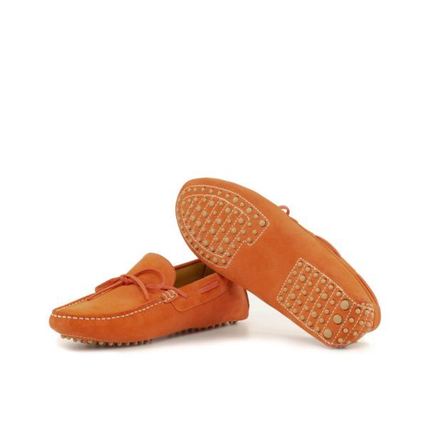 orange Driving Shoes rubber dimple soles ALONSO