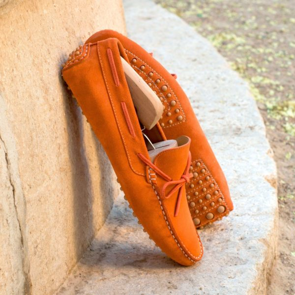 orange suede Driving Loafers ALONSO