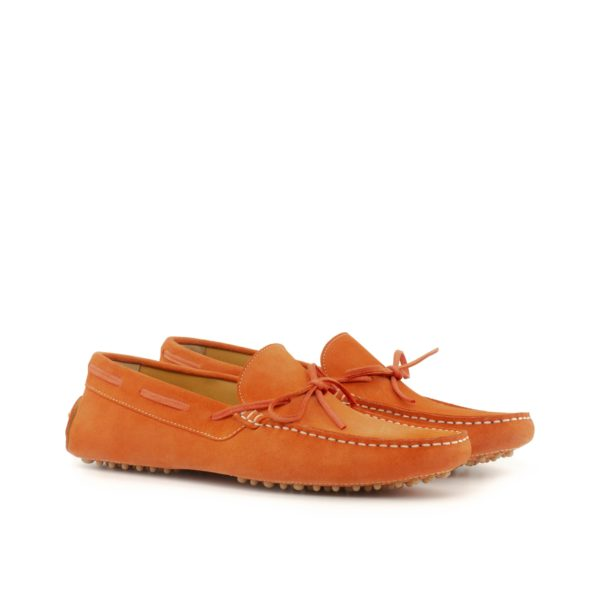 orange suede Driving Shoes with lace detail ALONSO by Civardi
