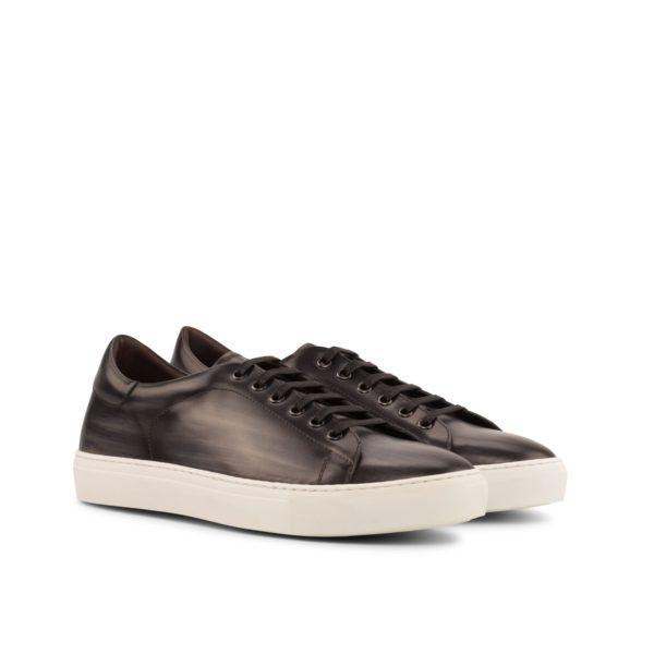 dark grey Patina leather Trainers ATALANTA by Civardi