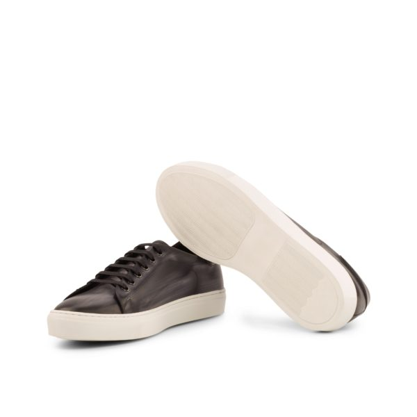 contrasting white rubber cup soles on grey Patina Trainers ATALANTA