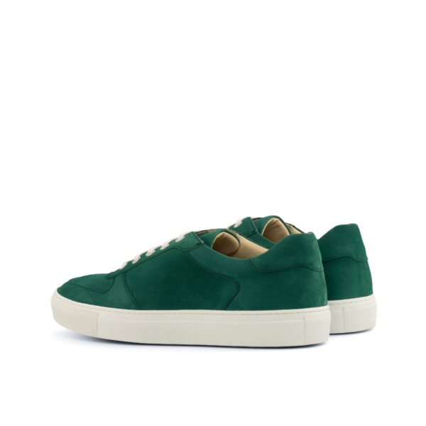 rear detail of green suede Trainers BOBBY