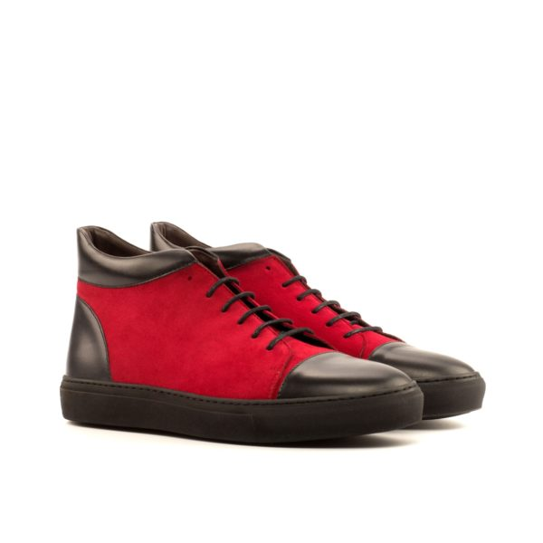 red suede and black leather Hi-Tops BULLS by Civardi