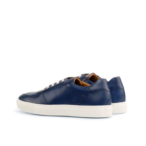 rear heel detail of navy Low-Top Trainers DAVY