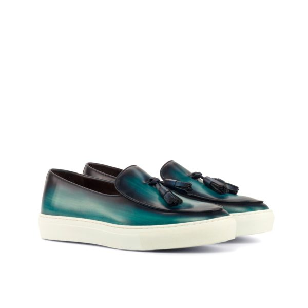 turquoise luxury Patina Belgian Sneakers DEBRUYNE by Civardi