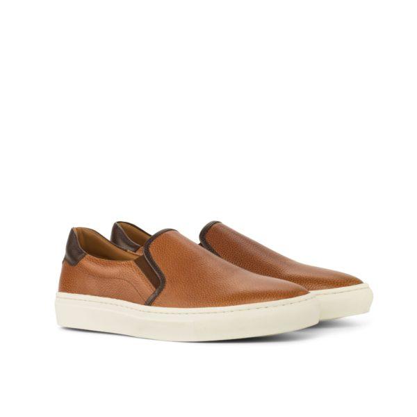 tan full grain leather Slip-On Sneakers FINN by Civardi