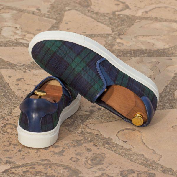 white rubber soles on tartan Slip-On Sneakers GREGOR