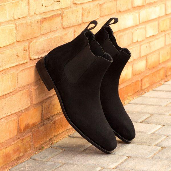 jet black chiselled toe Chelsea Boots GUNNER