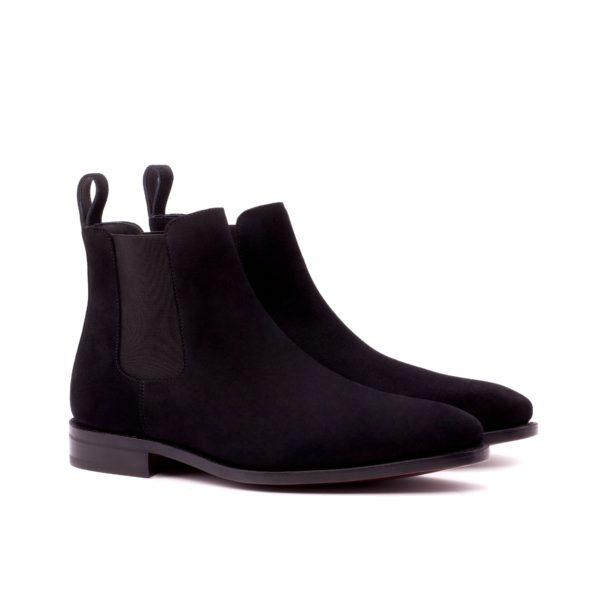 black luxury suede Chelsea Boots GUNNER by Civardi