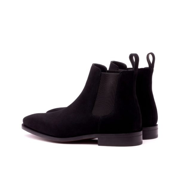 rear view black elastics on suede Chelsea Boots GUNNER