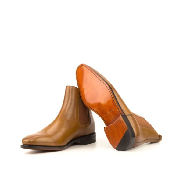 cognac colored goodyear welted leather soles Chelsea Boots HAMIL