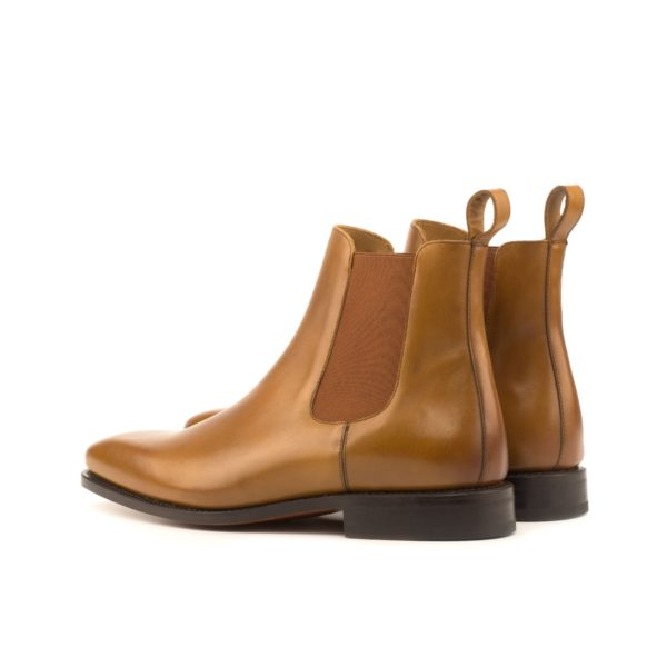 rear cognac elastics tan leather Chelsea Boots HAMIL
