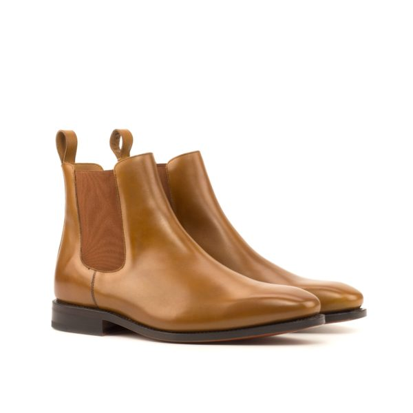 tan box calf leather Chelsea Boots HAMIL by Civardi