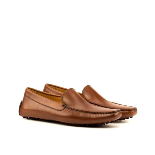 brown calf leather Driving Shoes HILL by Civardi
