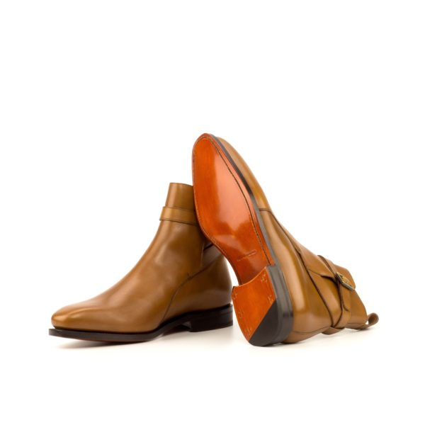 leather goodyear welted soles on Jodhpur buckle boots INDIANA