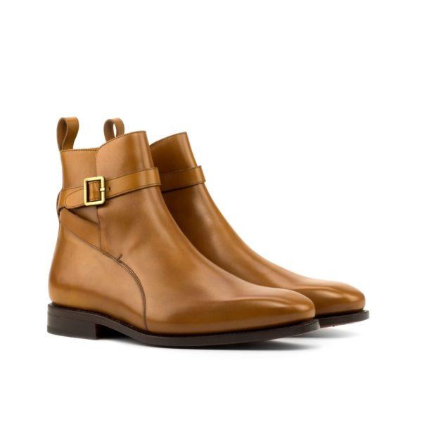 tan calf leather Jodhpur design buckle boots INDIANA