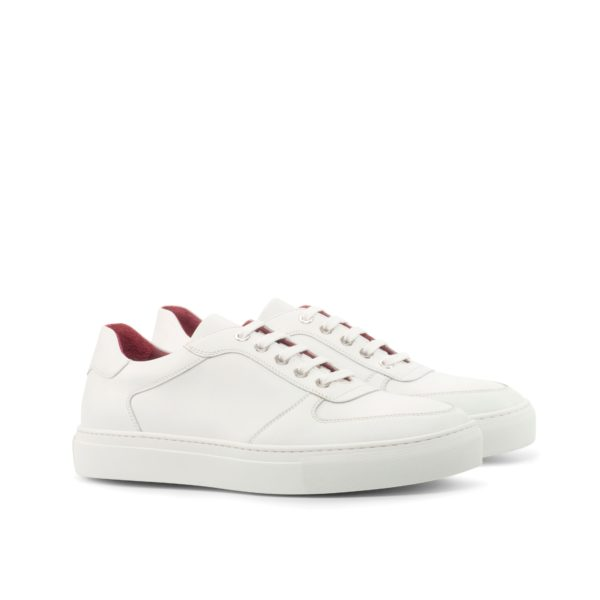 pure white leather Low-Top Trainers JOE by Civardi