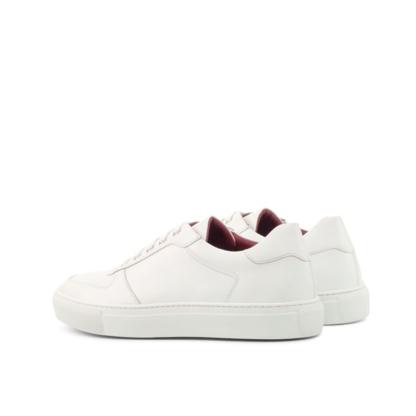 rear heel detail of our white leather Low-Top Trainers JOE