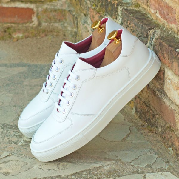 customizable white leather Low-Top Trainers JOE