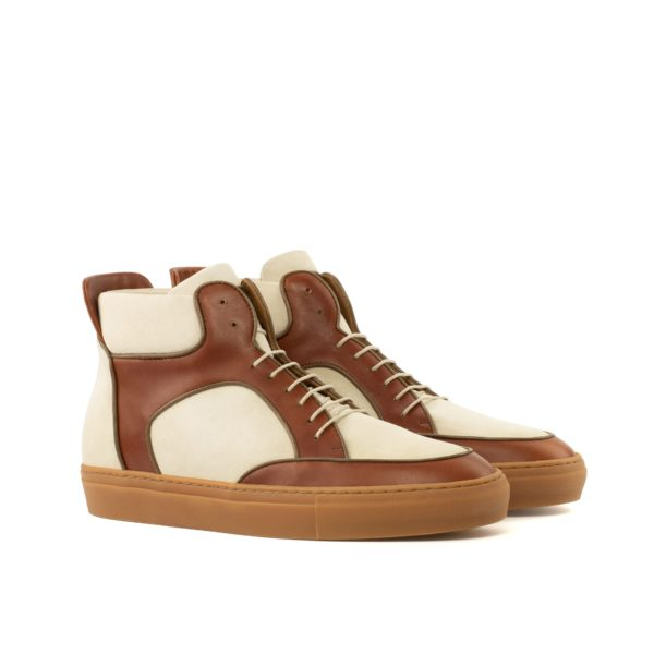 luxury suede and leather Multi-Panel Hi-Top Boots LARRY by Civardi