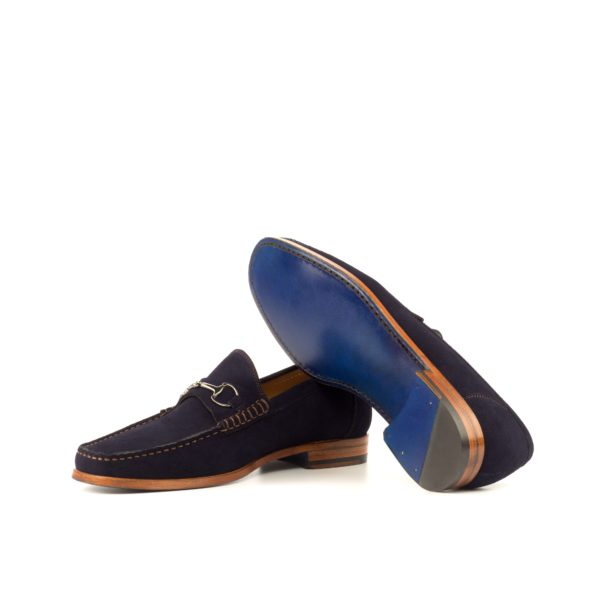 blue leather sole Moccasins LES with natural side of soles