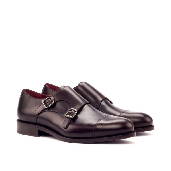dark brown calf leather Double Monks MARLON by Civardi