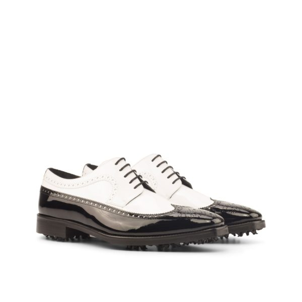 black and white patent Longwing Golf Shoes NORMAN by Civardi