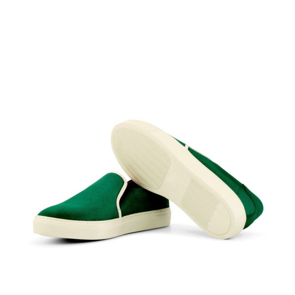 contrast white trim and rubber soles Slip-On Sneakers PAT