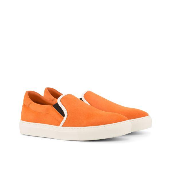 bright orange suede Slip-On Sneakers PYM by Civardi