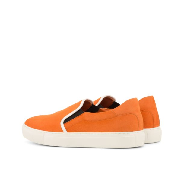 rear view of brigh orange suede Sneakers PYM