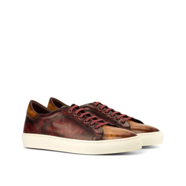 order or customize burgundy brown Patina Trainers ROMA by Civardi