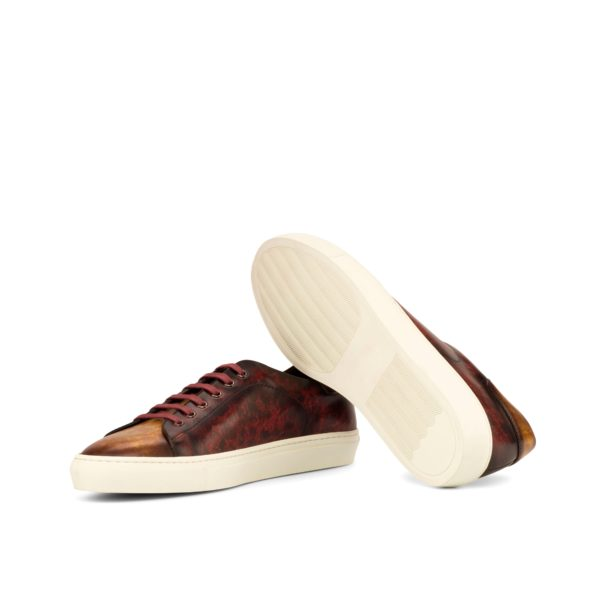 white rubber cup soles on Patina Trainers ROMA