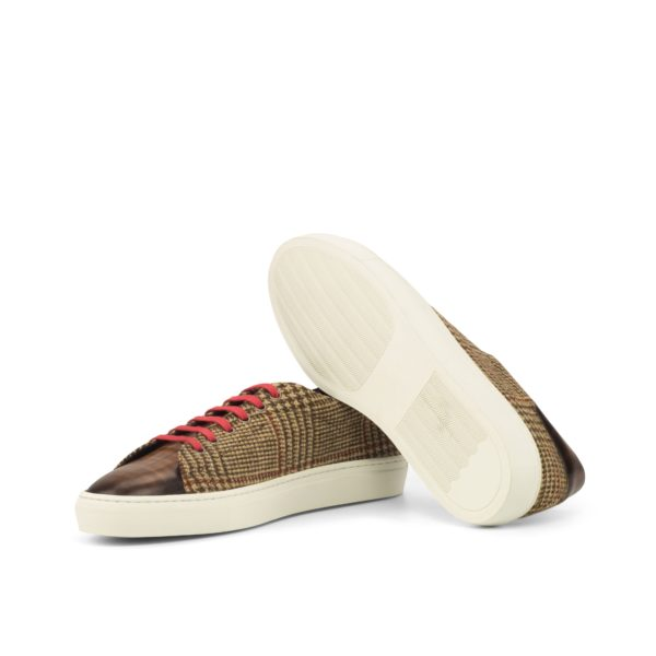 Tweed and Patina Trainers SILA with white rubber cup soles